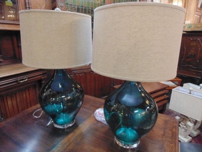 13L23575 TURQUOIS GLASS LAMPS (2).JPG