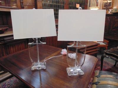 13L23580 PAIR GLASS SHIELD LAMPS.JPG