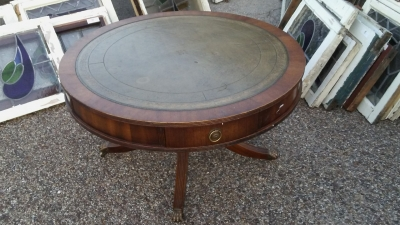 16I02095 ROUND REGENCY LEATHER TOP COFFEE TABLE.jpg