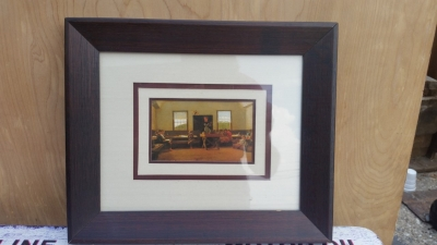 16H30 FRAMED PRINT OF SCHOOL HOUSE.jpg