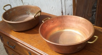 16I03016-17 COPPER AND BRASS COFITURE PANS (3).jpg