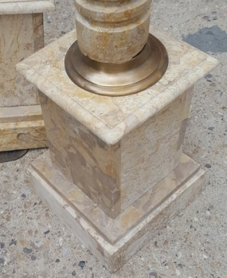 16I03033 PAIR OF TRAVERTINE CORINTHIAN STYLE PEDESTALS (3).jpg