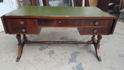 16I15046 MAHOGANY LEATHER TOP DESK WITH DROP SIDES (1).jpg