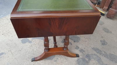 16I15046 MAHOGANY LEATHER TOP DESK WITH DROP SIDES (2).jpg