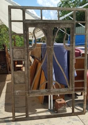 16I15003 LARGE ART NOUVEAU WINDOW FRAME (1).jpg