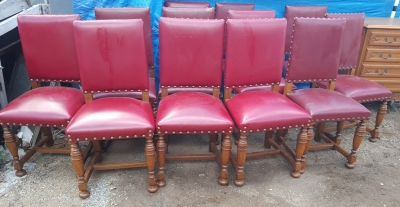 16I15041 SET OF 12 RED LEATHER CHAIRS.jpg