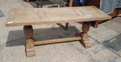 16I15051 OAK TRESTLE BASE LOW TABLE.jpg