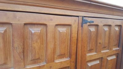 16I15057 OAK 4 DOOR PANELED CABINET (3).jpg
