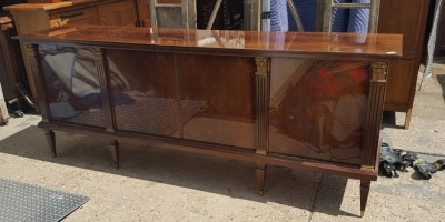 16I15058 4 DOOR MAHOGANY SIDEBOARD ON TAPERED LEGS.jpg