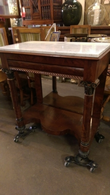 16I08220 MARBLE TOP EMPIRE CONSOLE OR SERVER (1).jpg