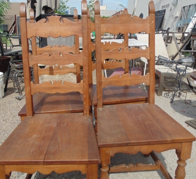 14D22031 SET OF FOUR FRENCH LADDER BACK CHAIRS