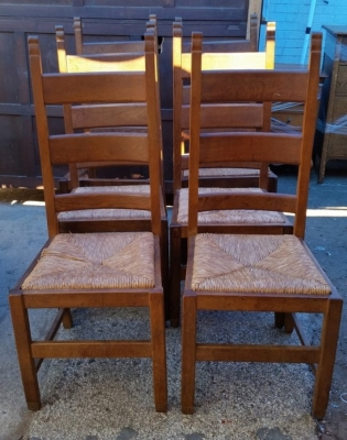 16J05036 SET OF 6 OAK LADDER BACK CHAIRS.jpg