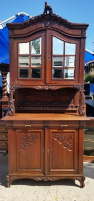 16J05043 PAIR OF CARVED BUFFETS WITH MIRRORED DOORS (1).jpg