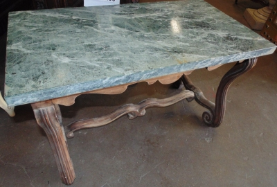 14D21101 GREEN MARBLE COCKTAIL TABLE