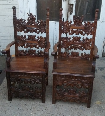 16K16 PAIR OF HERALDIC CARVED ARM CHAIRS (1).jpg