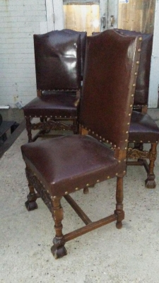 16K16 SET OF 6 RUSTIC LEATHER CHAIRS (3).jpg