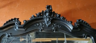 BLACK PAINTED LOUIS XV MIRROR (2).jpg