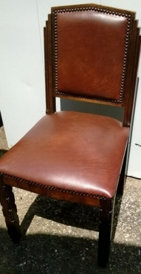 14D22021 SET OF 6 DECO DINING CHAIRS
