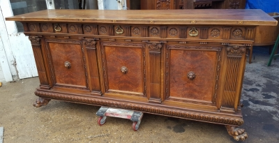 17A01 LARGE PAW FOOT SIDEBOARD WITH LION HEADS (1).jpg