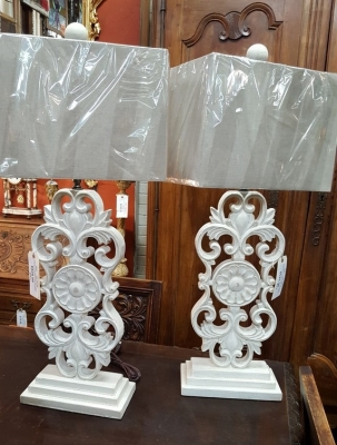 16L15 PAIR OF SLENDER CARVED WOOD LAMPS.jpg
