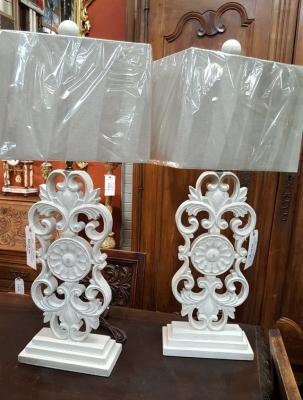 16L15 PAIR OF SLENDER CARVED WOOD LAMPS.jpg
