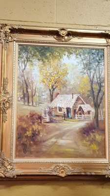 FRAMED DOROTHY SMITH FARM OIL PAINTING.jpg