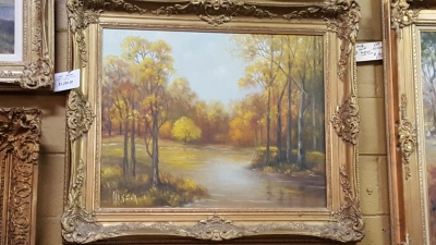 FRAMED RIVER LANDSCAPE BY DOROTHY SMITH.jpg