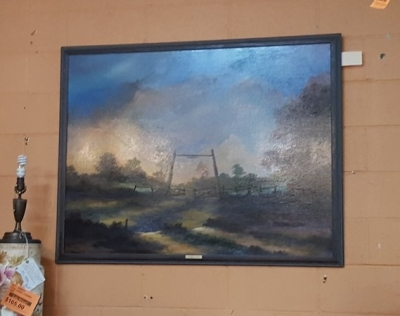 SIGNED LANDSCAPE PAINTING BY TEXAS ARTIST (2).jpg