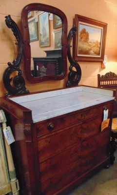 Sold!     13K14013 MAHOGANY CHEST WITH MIRROR $550.00 (1).JPG