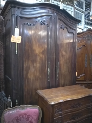 15F30450 HUGE EARLY FRENCH 2 DOOR ARMOIRE $1995.jpg