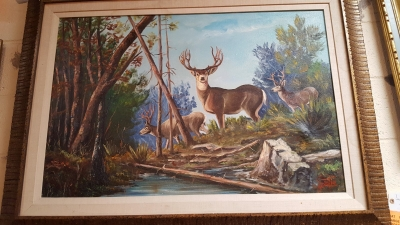 16D01004 LARGE DEER PAINTING.jpg