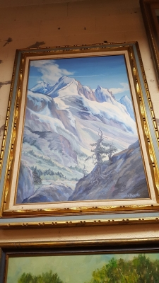 16D01005 MOUNTAIN OIL PAINTING $125.jpg