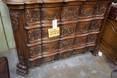 17A15032 HIGHLY CARVED LOUIS XV SERVER CHEST $3195.jpg