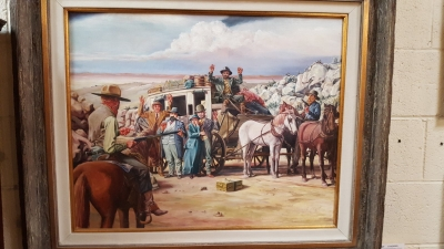 17A28005 STAGE COACH ROBBERY OIL PAINTING $1299.jpg