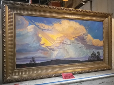 14D28572 LARGE SIGNED THUNDERCLOUDS OIL PAINTING $1895.jpg