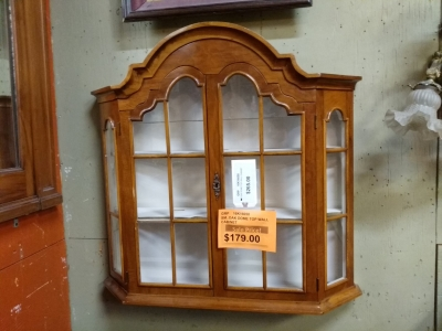 16K16058 OAK DOME TOP WALL CABINET $179.jpg
