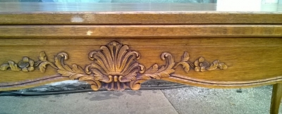 14E01009 LONG FRENCH DINING TABLE WITH PULL OUT LEAVES AND NICE CARVING (4).jpg