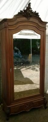14E01016 LOUIS XV SINGLE MIRRORED DOOR ARMOIRE  (4).jpg