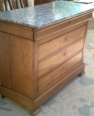 14E01018 LOUIS PHILLIPE MARBLE TOP CHEST OF DRAWERS (2).jpg