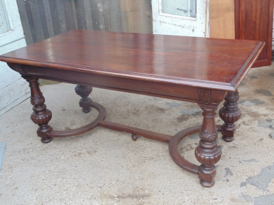 14B04002 RENAISSANCE REVIVAL LIBRARY TABLE  (1)