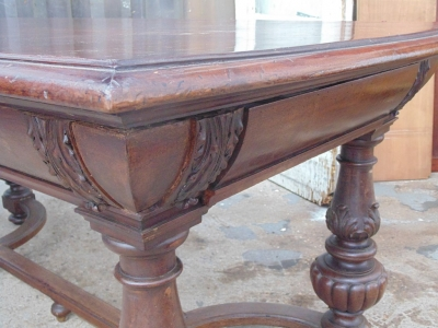 14B04002 RENAISSANCE REVIVAL LIBRARY TABLE  (3)