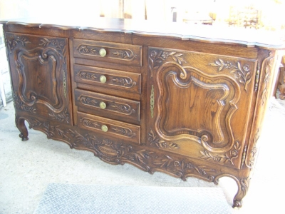 13A31068 Dark Oak Louis XV Sideboard  (1).JPG