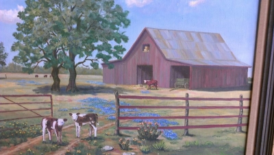 13b25161 oil of cows and barn by M.G. Garren  (6).jpg