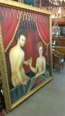 13b25470 Huge Oil of Nudes Very Unusual (2).jpg