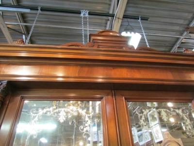 13C06010 AUSTRIAN MIRRORED DOOR MARBLE TOP WALNUT SIDEBOARD (3).JPG