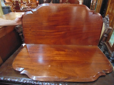 13D08  19TH CENTURY TABLE TOP WITH FLIP UP LEAF.JPG