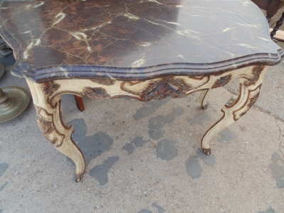 13F17248 FAUX MARBLE LARGE CONSOLE TABLE (2).JPG