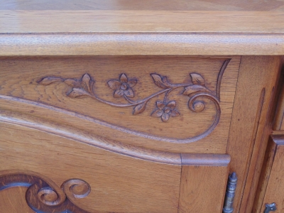 14B04011 CARVED LOUIS XV OAK SIDEBOARD  (3)