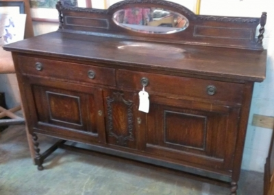 36 LARGE JACOBEAN SIDEBOARD WITH MIRROR