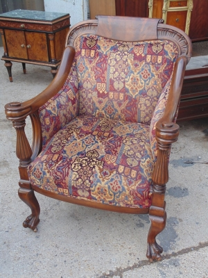 14B04013 CARVED ARM CHAIR (1)